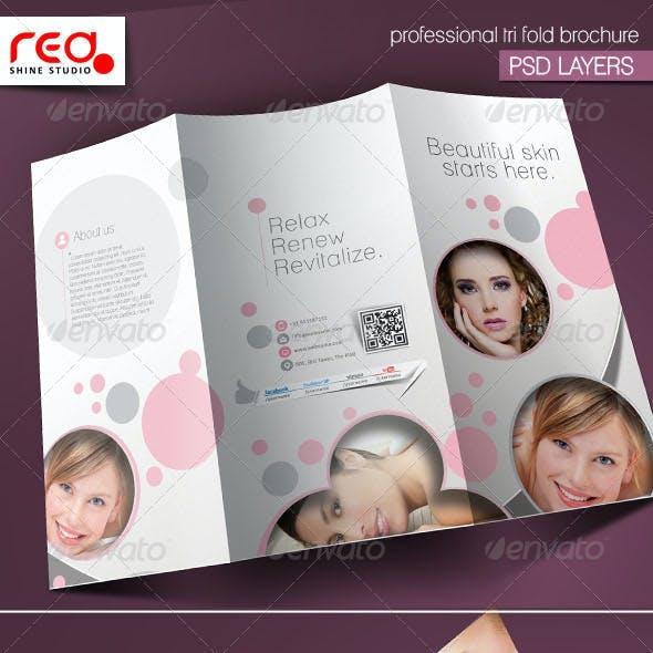 Promotional Salon Trifold Brochure Template