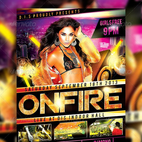 On Fire Party Flyer