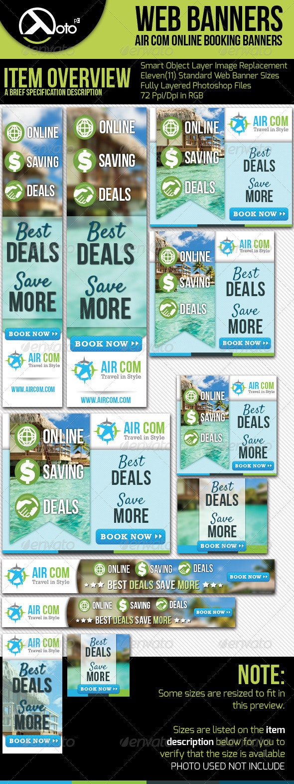 Online Booking Travel Web Banner - Banners & Ads Web Elements
