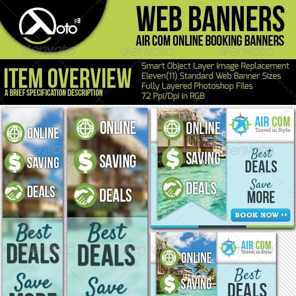Online Booking Travel Web Banner
