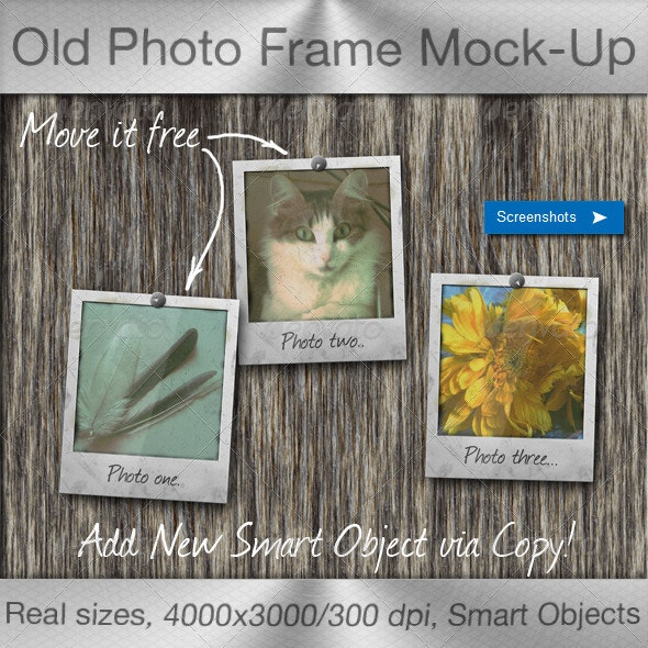 Old Photo Frame Mock-Up - Miscellaneous Product Mock-Ups
