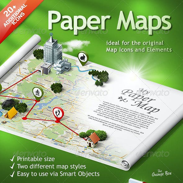 Paper Maps – The stage for your 3D Maps and Icons