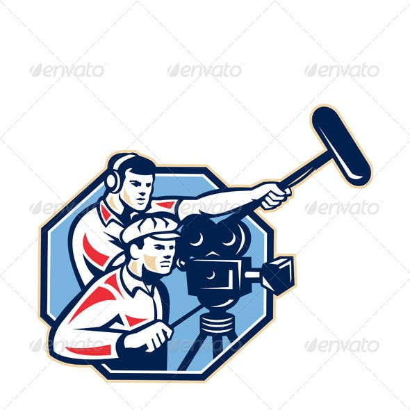 Cameraman Vintage Camera Soundman Boom Retro