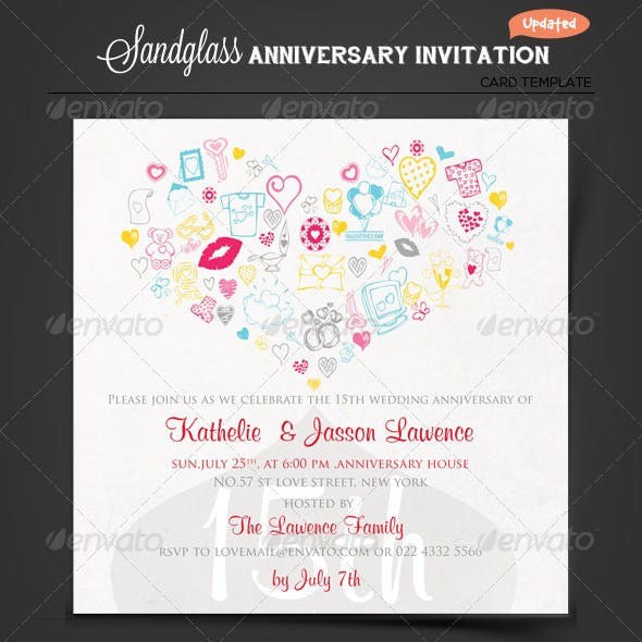 Anniversary Invitation Template_vol.04