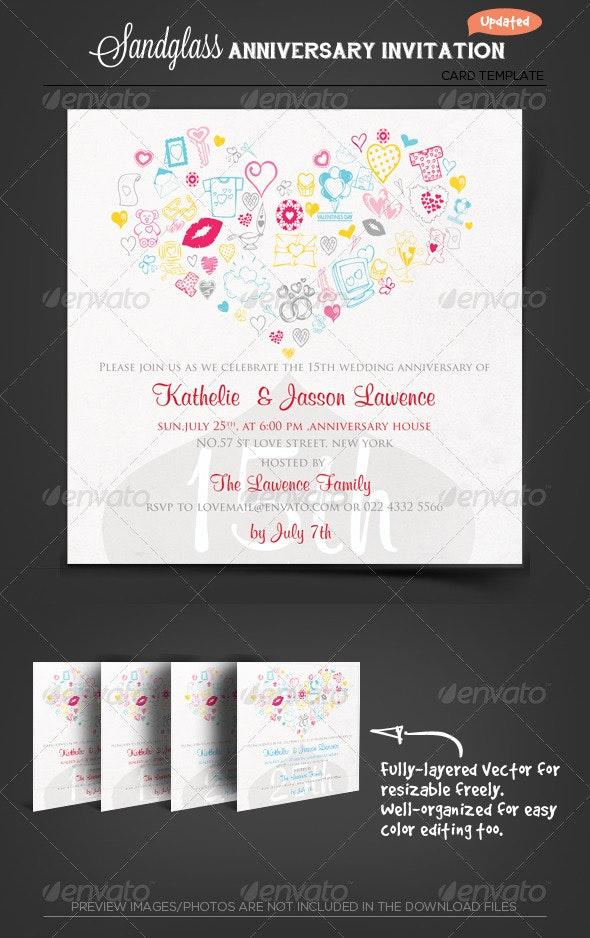 Anniversary Invitation Template_vol.04 - Anniversary Greeting Cards