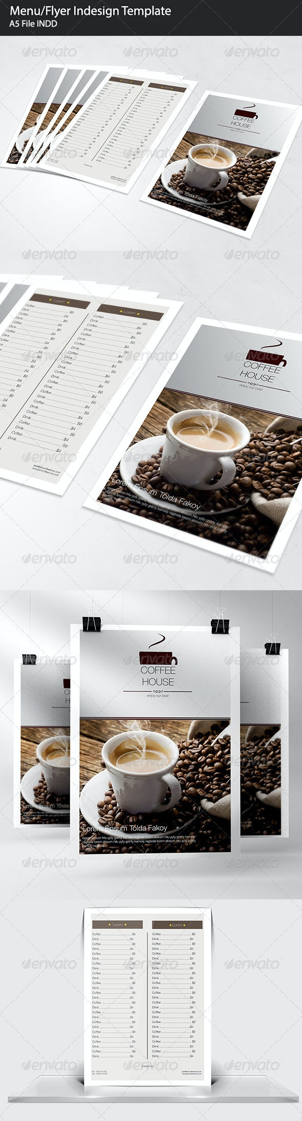 Menu/Flyer Indesign Template  - Food Menus Print Templates