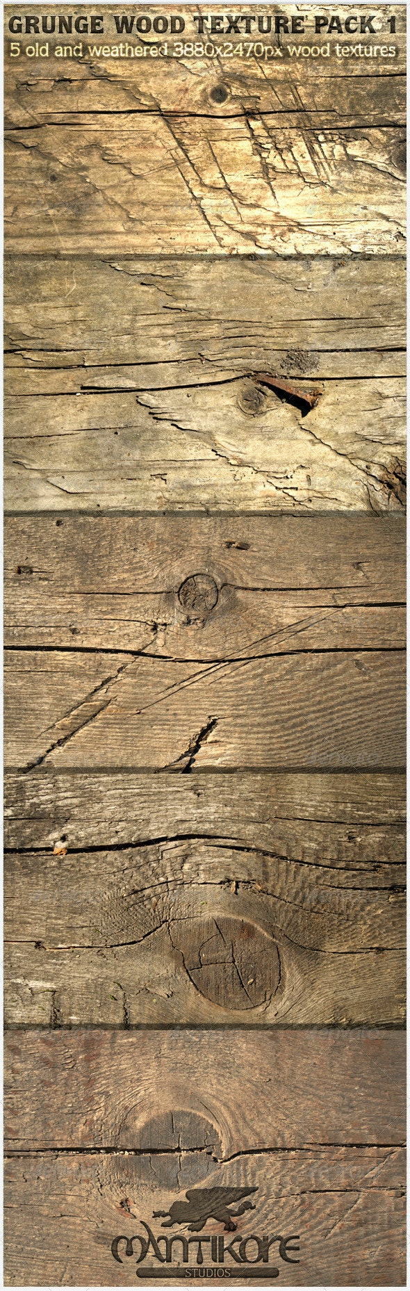 Grunge Wood Texture Pack 1 - Wood Textures