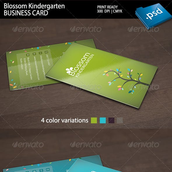 Blossom Kindergarten Business Card