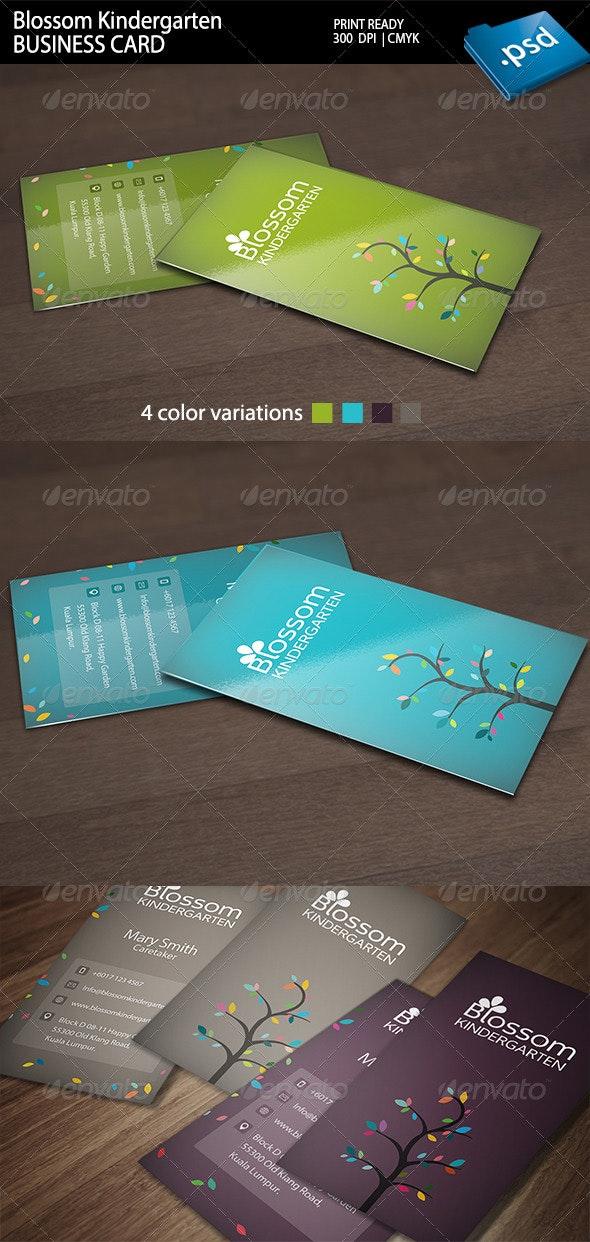 Blossom Kindergarten Business Card - Creative Business Cards