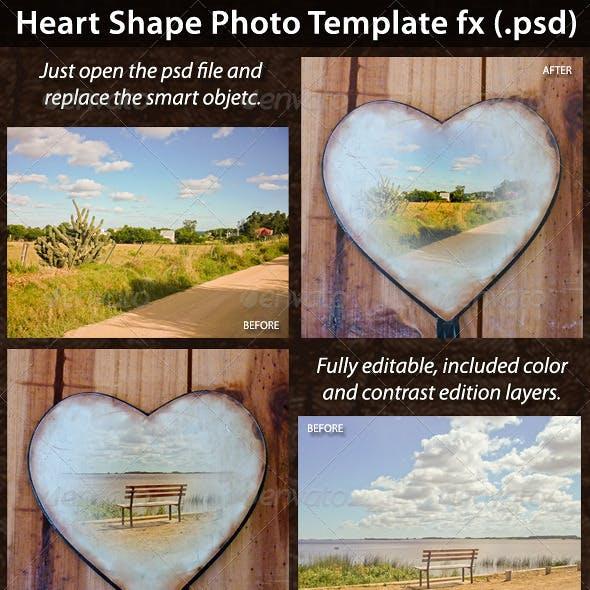 Heart Shape Photo Template FX