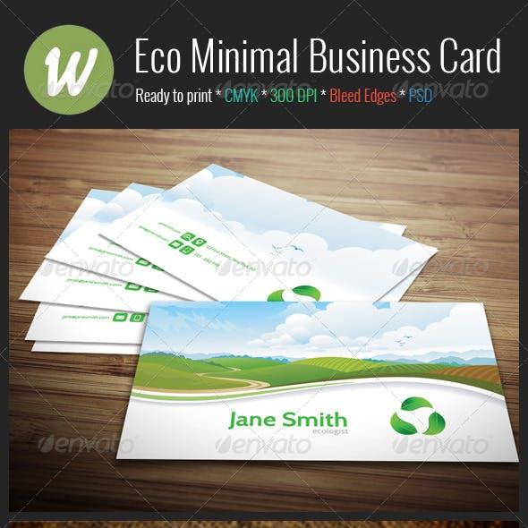 Eco Minimal Business Card