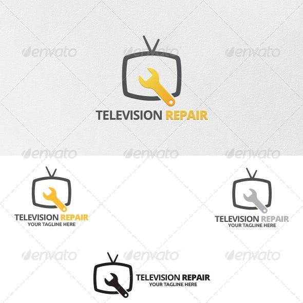 Television Repair - Logo Template