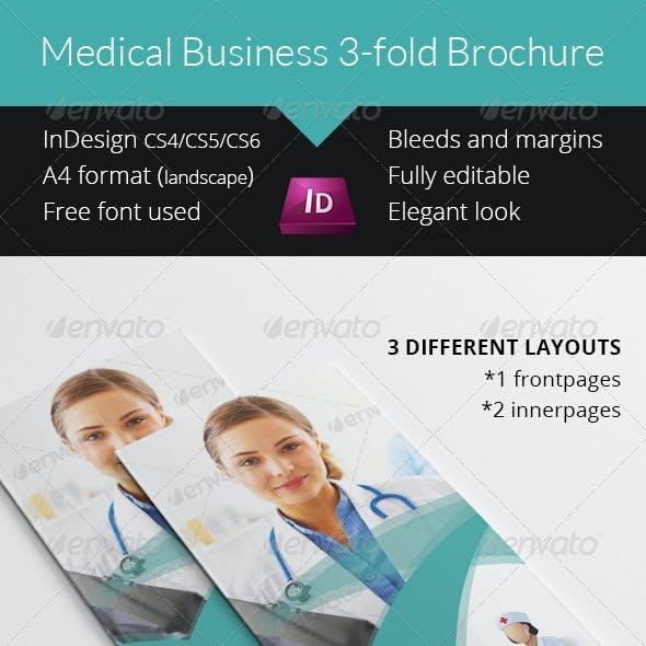 Medical Business 3-fold Brochure - InDesign Template