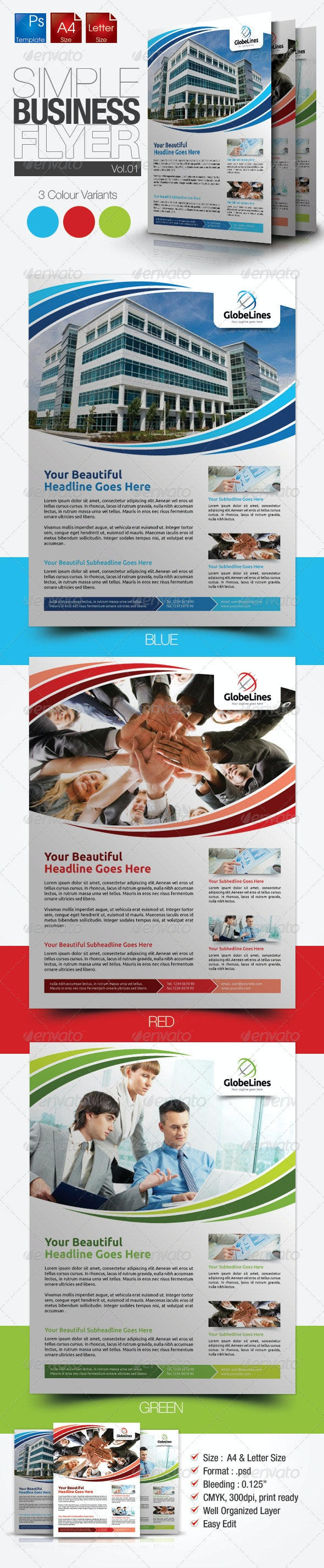 Business Flyer Vol.01 - Print Templates
