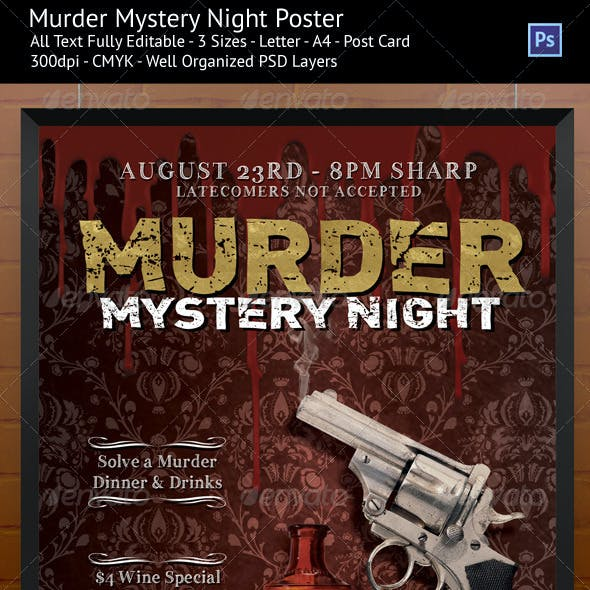 Murder Mystery Night Flyer/Poster Templates