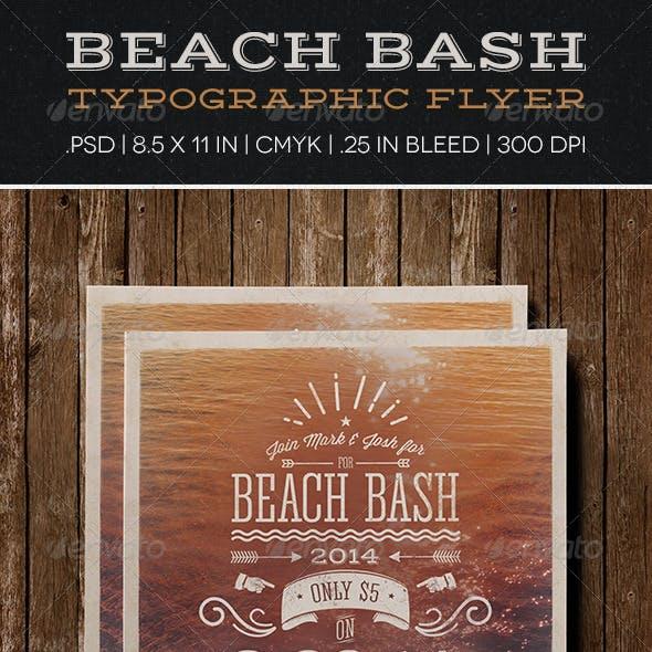 Beach Bash Typographic Flyer