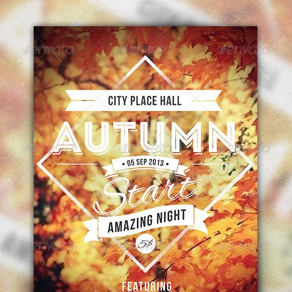 Autumn Start - Events Party Flyer