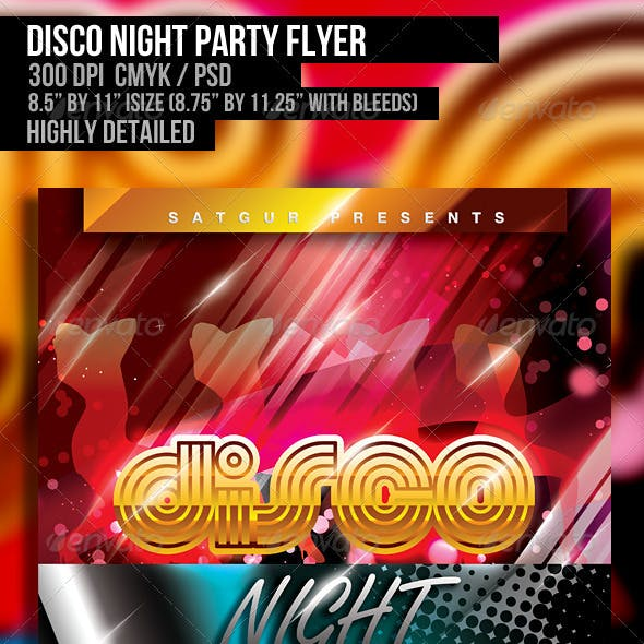 Disco Night Party Flyer