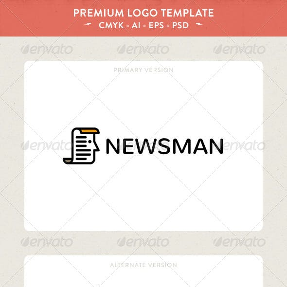 Download News Man Logo Template