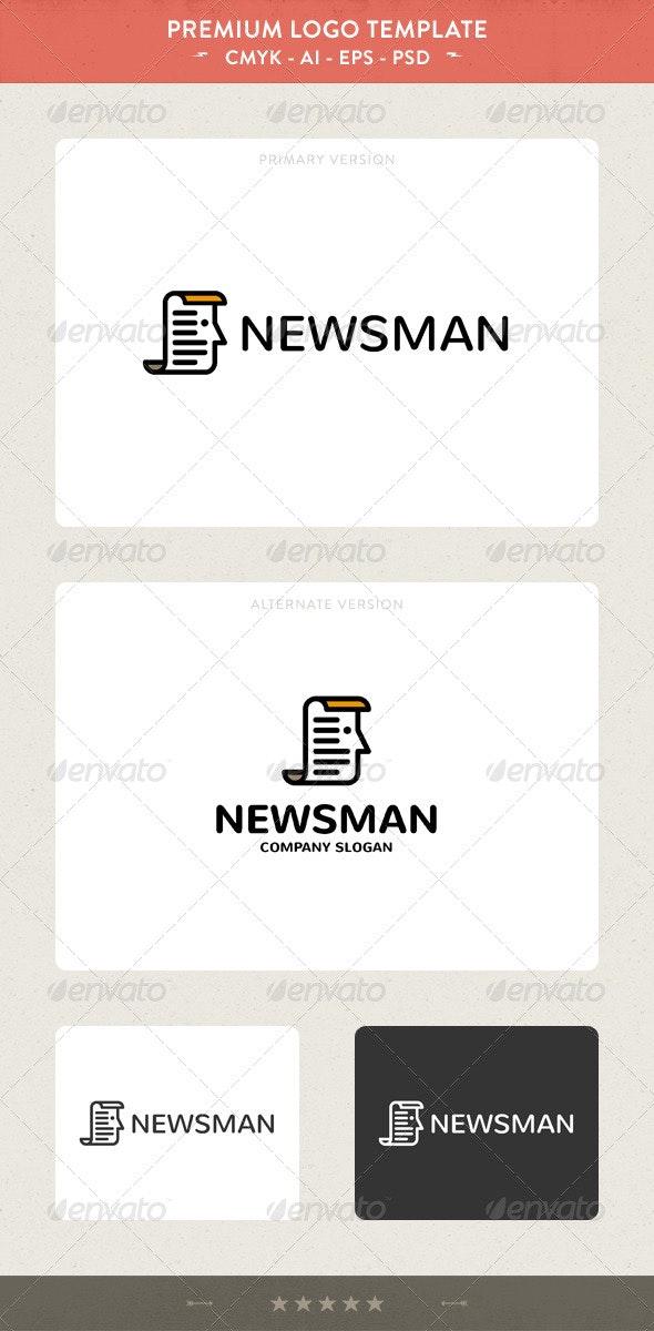 News Man Logo Template