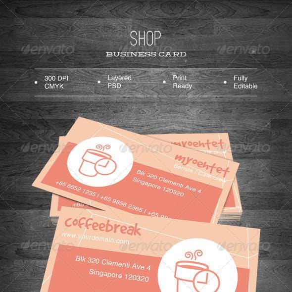 Shop Business Card