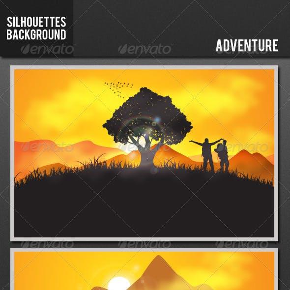 Silhouette Background - Adventure