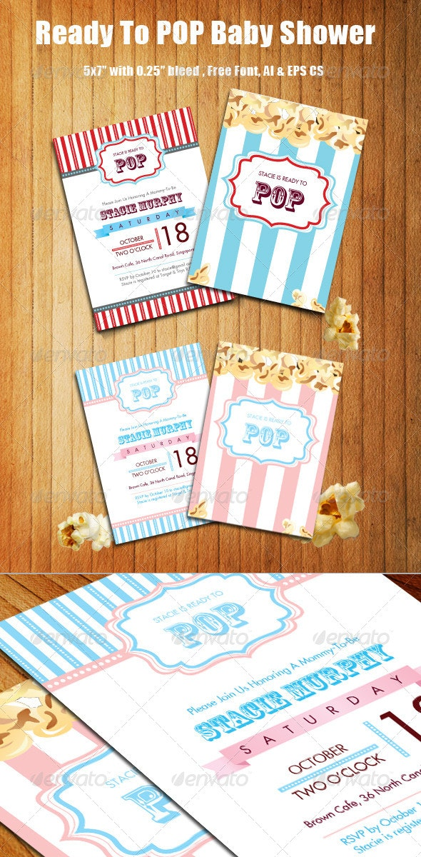 Ready to POP Baby Shower - Invitations Cards & Invites