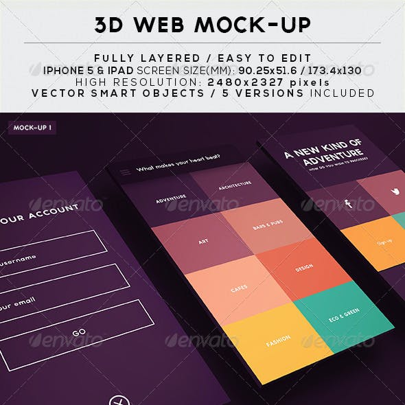 3D Web Mock-Up