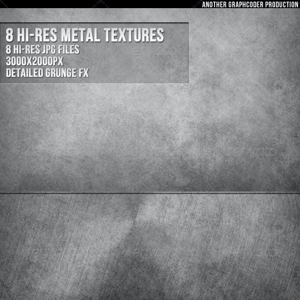 8 Hi-Res  Metal Textures
