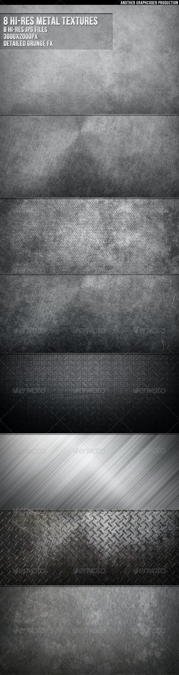 8 Hi-Res  Metal Textures - Metal Textures