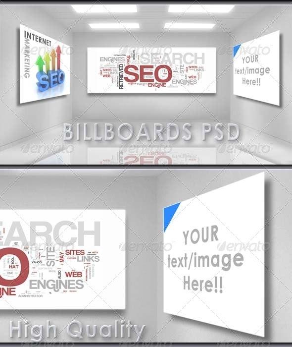 Business Billboards PSD - Business Backgrounds