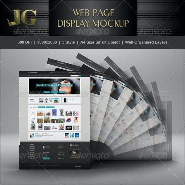 Web Page Display Mockup