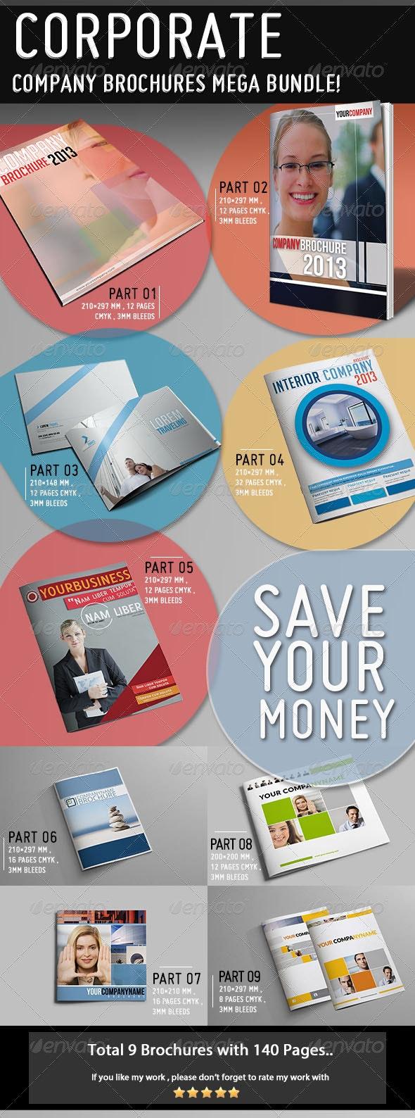 Mega Company Brochure Bundle - Corporate Brochures