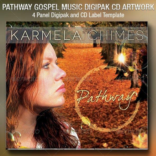 Pathway Gospel Music 4 Panel Digipak CD Template