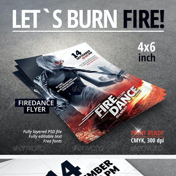 Fire Dance Party Flyer