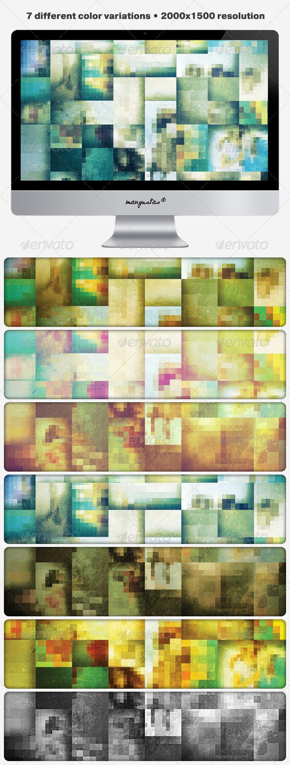 Pixelated Grungy Backgrounds - Abstract Backgrounds