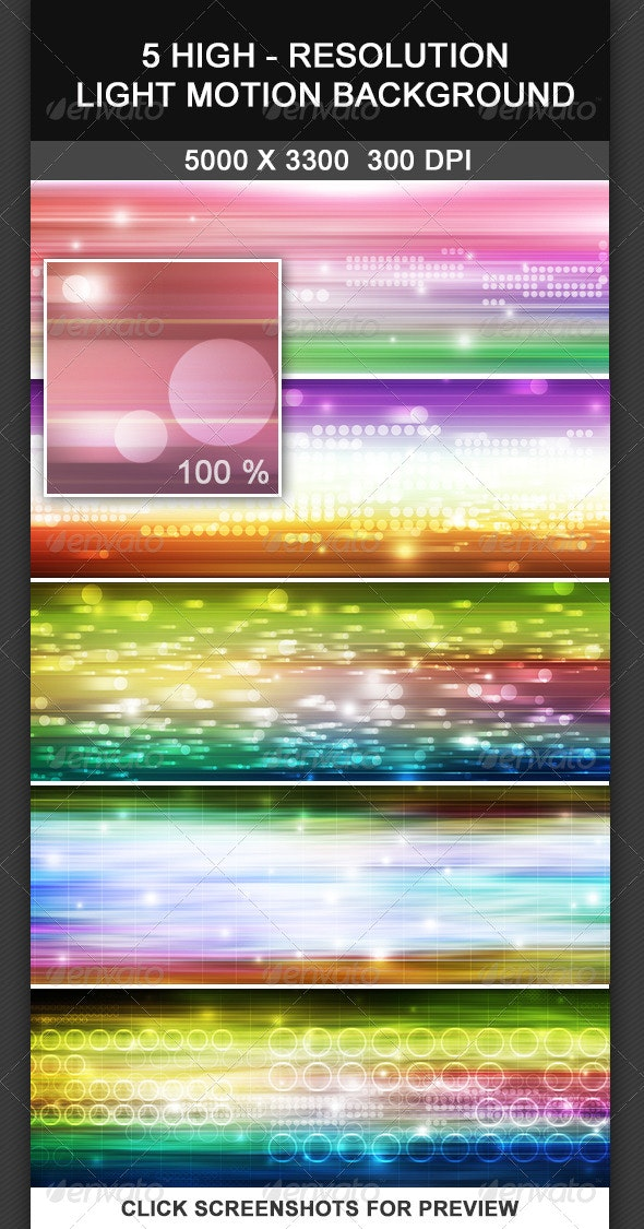 5 Light Motion Background - Tech / Futuristic Backgrounds