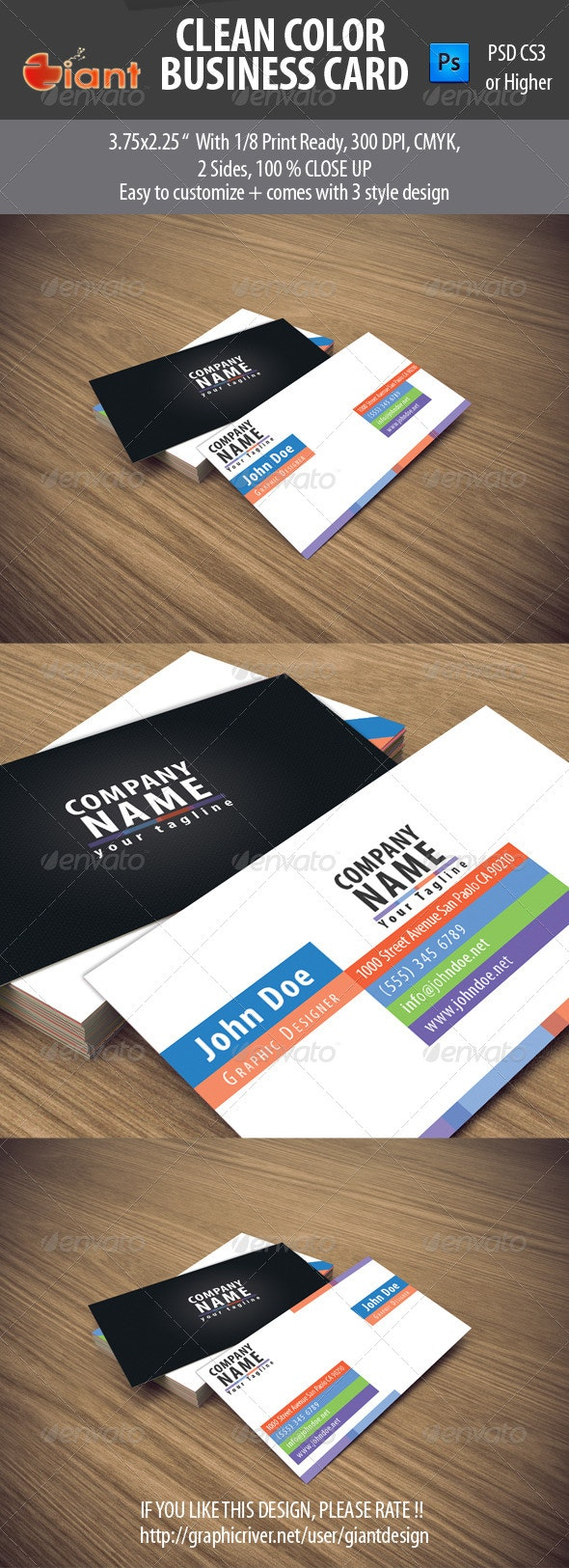 Clean Color Business Card - Creative Business Cards