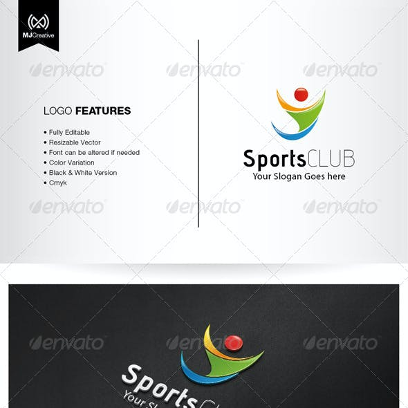 Abstract Human and Sport Logo