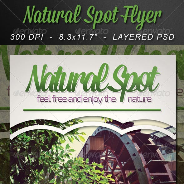 Natural Spot Flyer Template