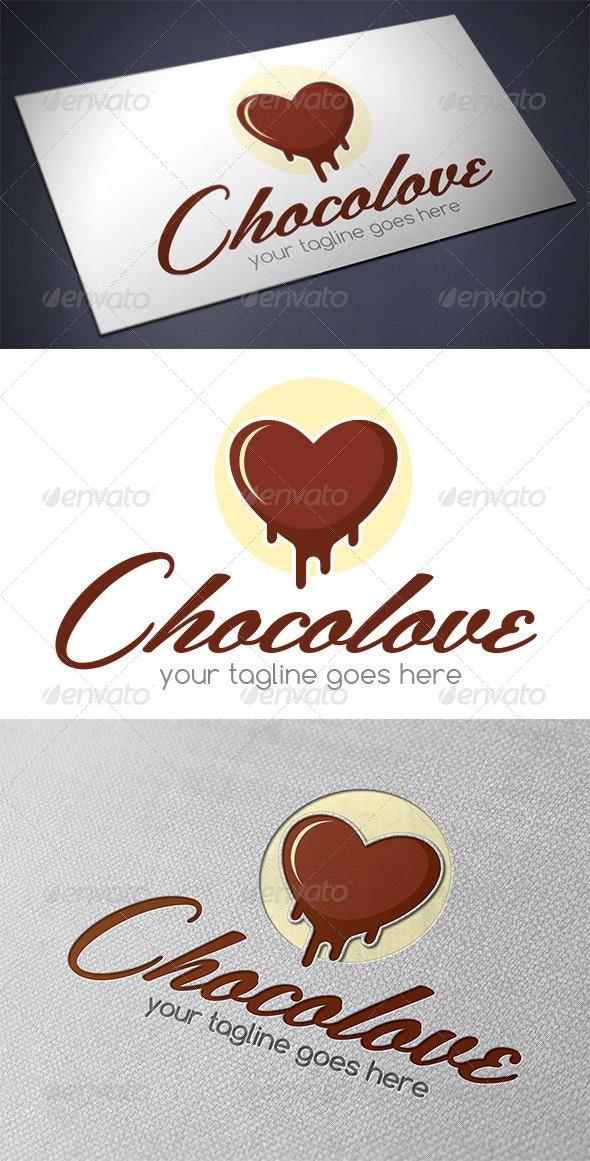 Chocolate Love Logo Template