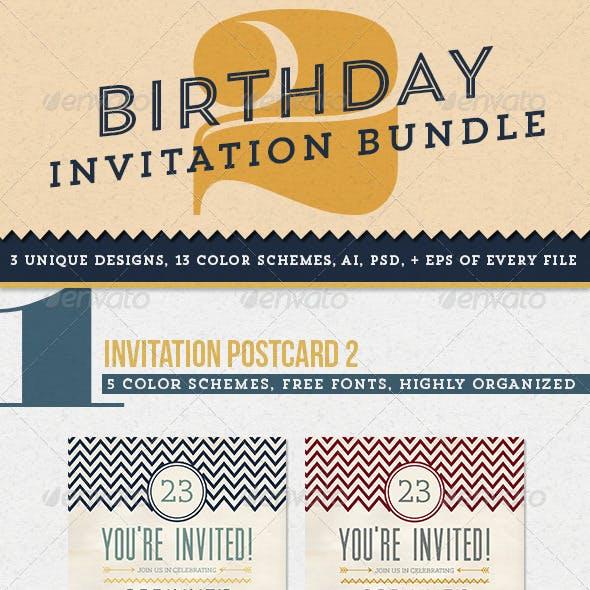 Birthday Invitation Bundle 2