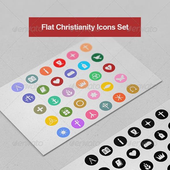Flat Christianity Icons