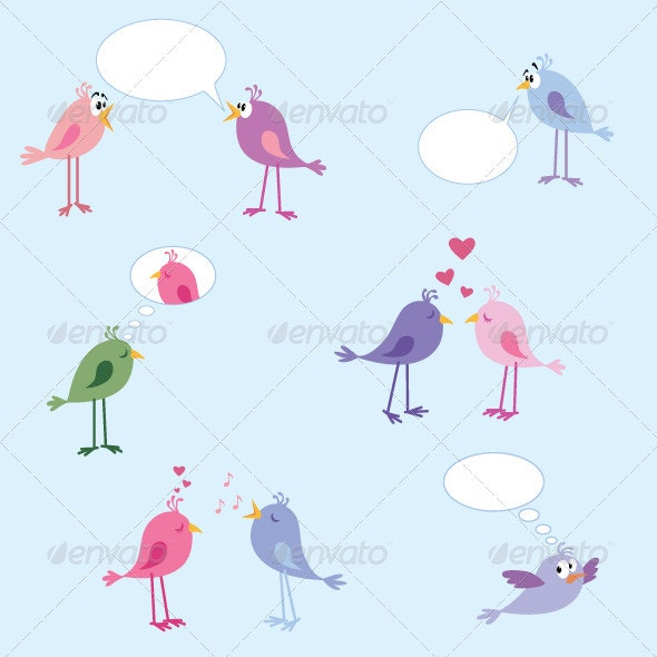 Birds - Set 1 - Animals Characters