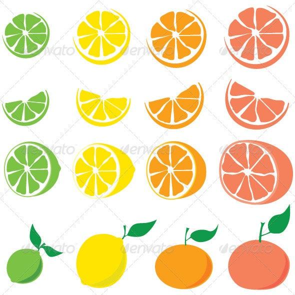 Citrus Set - Food Objects