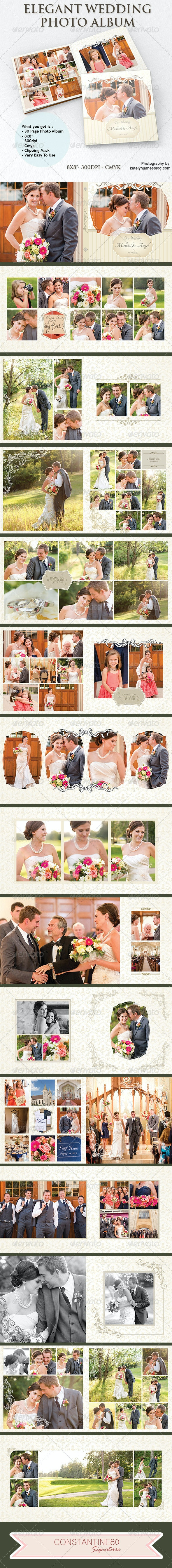 Elegant Wedding Photo Album - Photo Albums Print Templates