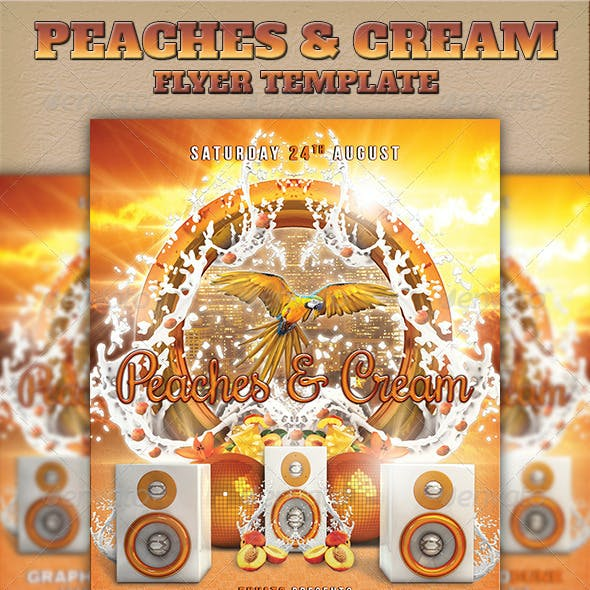 Peaches & Cream Flyer Template