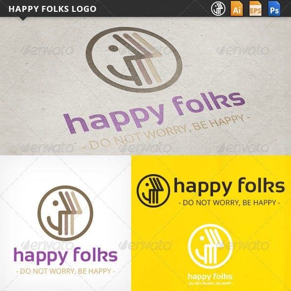 Happy Folks Logo Templates