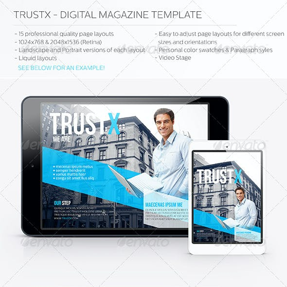 Trustx - Digital Magazine Template