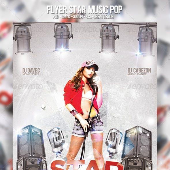 Flyer Star Music Pop